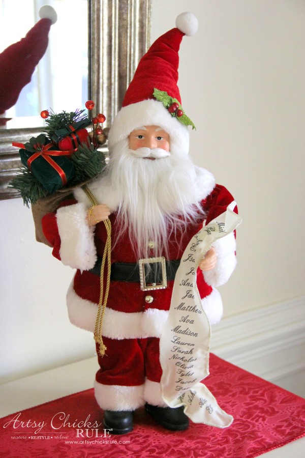Holiday Decor Ideas with At Home (Pt 3 of 3) Cherished Memories Santa - #AtHomeforChristmas #AtHomeFinds #ad