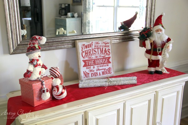 Holiday Decor Ideas with At Home (Pt 3 of 3) Festive Red Vignette - #AtHomeforChristmas #AtHomeFinds #ad