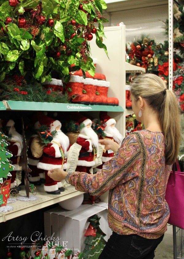 Holiday Decor Ideas with At Home (Pt 3 of 3) I love Santas - #AtHomeforChristmas #AtHomeFinds #ad