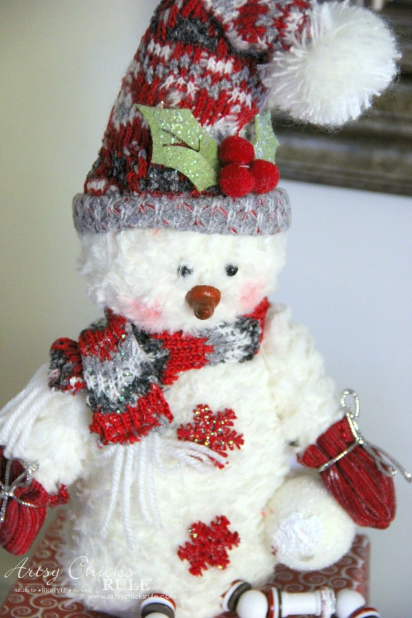 Holiday Decor Ideas with At Home (Pt 3 of 3) Love this Snowman - #AtHomeforChristmas #AtHomeFinds #ad