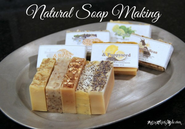 Natural-Soap-Making-Healthy-Handmade Gift Idea - Artsy Chicks Rule