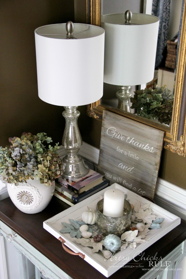 Thanksgiving Foyer - Neutral and nautical decor - artsychicksrule