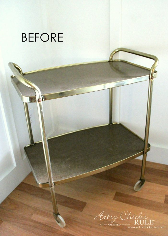 $15 Beverage Cart Goes Glam (simple transformation!)