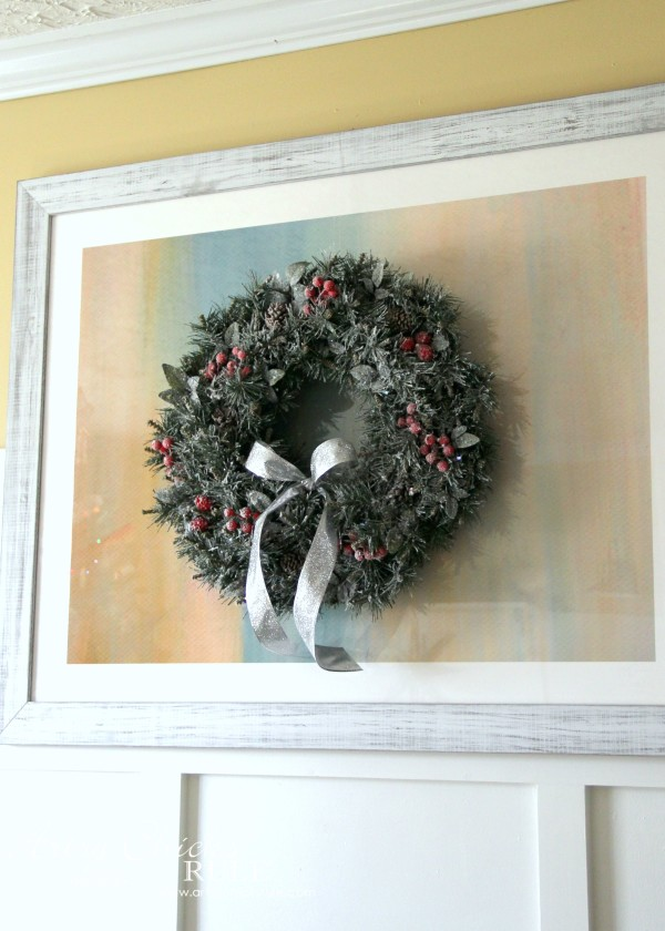 Christmas Home Tour 2015 - DIY Wreath - artsychicksrule.com #christmashometour