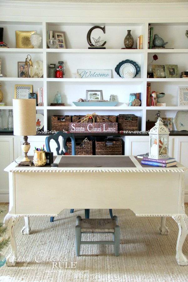 Christmas Home Tour 2015 - Desk and Study - artsychicksrule.com #christmashometour