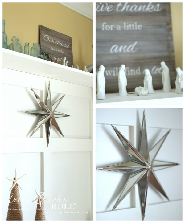 Christmas Home Tour 2015 - Mirrored Star and Nativity - artsychicksrule.com #christmashometour