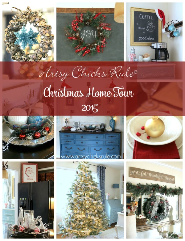 Christmas Home Tour 2015 - Part 2 - artsychicksrule.com #christmashometour
