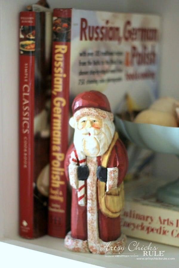 Christmas Home Tour 2015 - Santa Claus - artsychicksrule.com #christmashometour