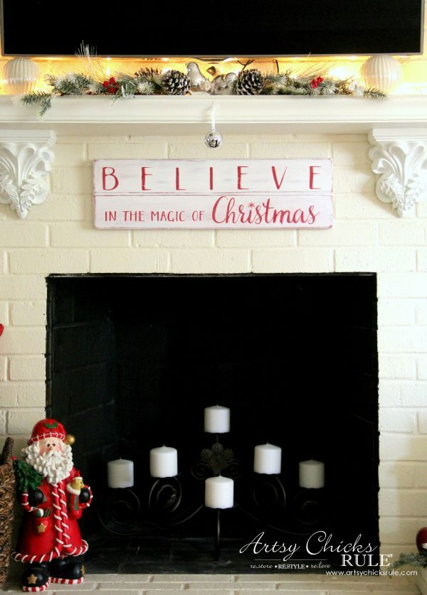 diy believe in the magic of christmas sign artsy chicks rule