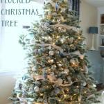 DIY Flocked Tree (Thrifty Holiday Decor!)