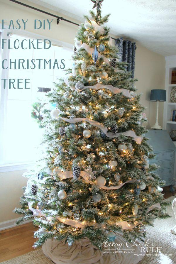 diy flocked tree easier than it seems all the details. Black Bedroom Furniture Sets. Home Design Ideas