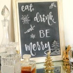 Eat, Drink and BE Merry Chalk Art (and a FREE printable!)