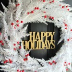 Red and White Christmas Wreath (SO simple and thrifty!)