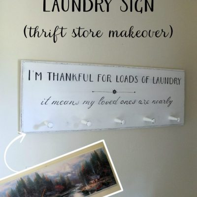 DIY Laundry Sign (thrift store makeover)