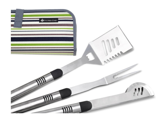 FIGTREE-CHEF 3-piece Stainless Steel BBQ Tools Set