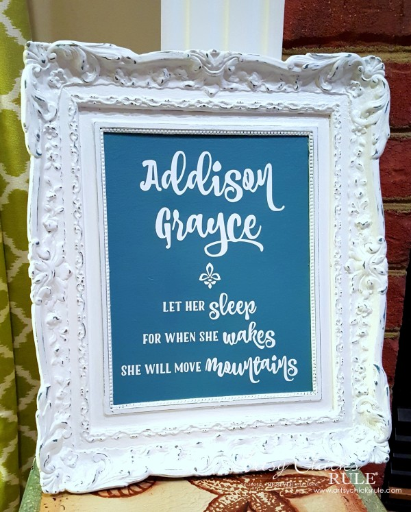 Thrifty Wall Art - budget friendly AFTER - artsychicksrule #wallart #budgetdecor #silhouette