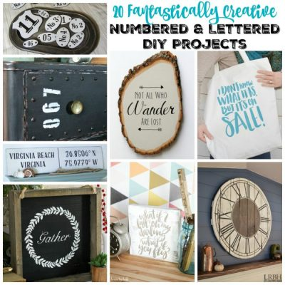 20 Fantastically Creative Numbered & Lettered DIY Projects