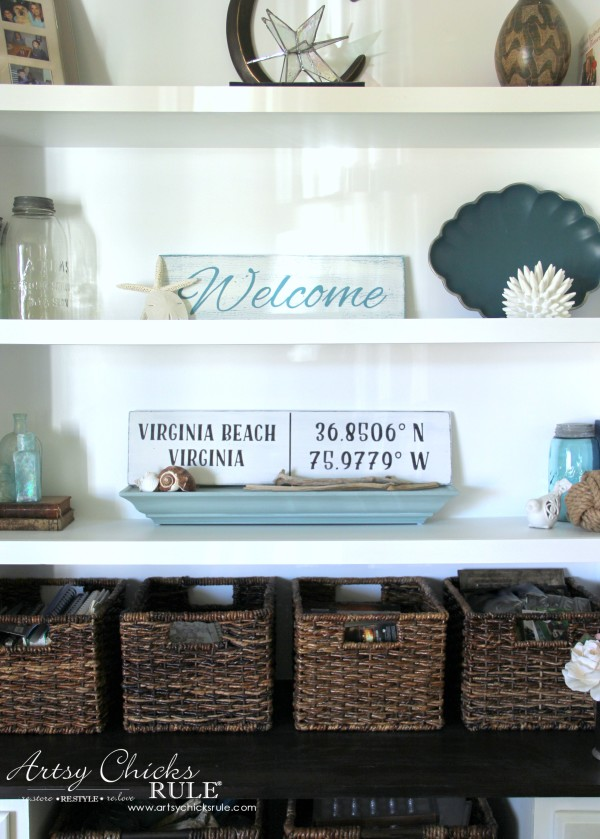 DIY Coordinates Sign - ANYONE CAN DO - artsychicksrule #silhouette #diy #sign #coastaldecor
