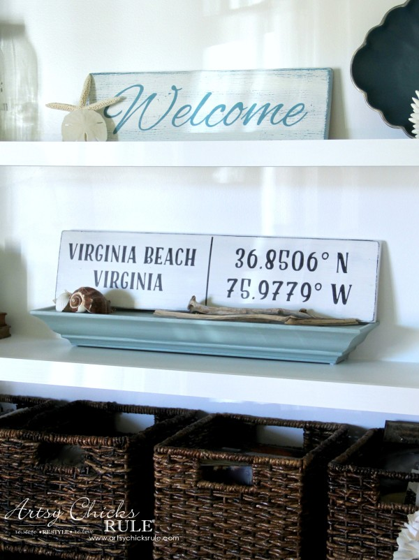DIY Coordinates Sign - EASY PROJECT - artsychicksrule #silhouette #diy #sign #coastaldecor