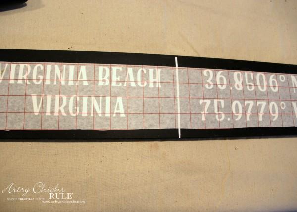 DIY Coordinates Sign - align lettering - artsychicksrule #silhouette #diy #sign #coastaldecor