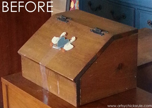Old Bread Box Transformed - BEFORE - artsychicksrule