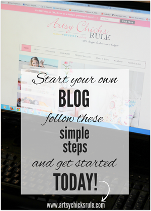 want to start your own blog?