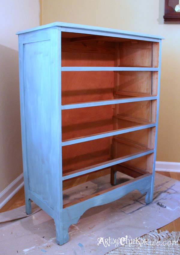 Thrift Store Dresser - First Under Coat - Provence Chalk Paint