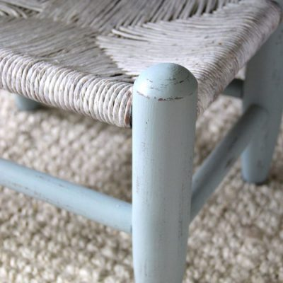 Beachy Footstool Makeover