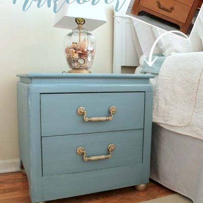 Coastal Turquoise Night Stands Makeover w/Chalk Paint