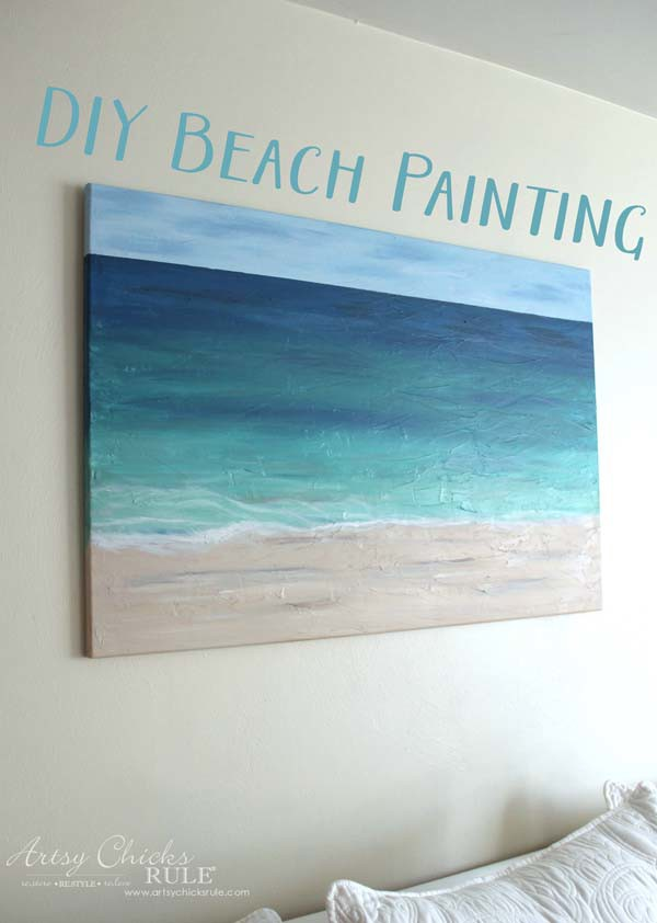 826a485967 DIY Beach Painting (create faux texture for real looks!) - Artsy ...