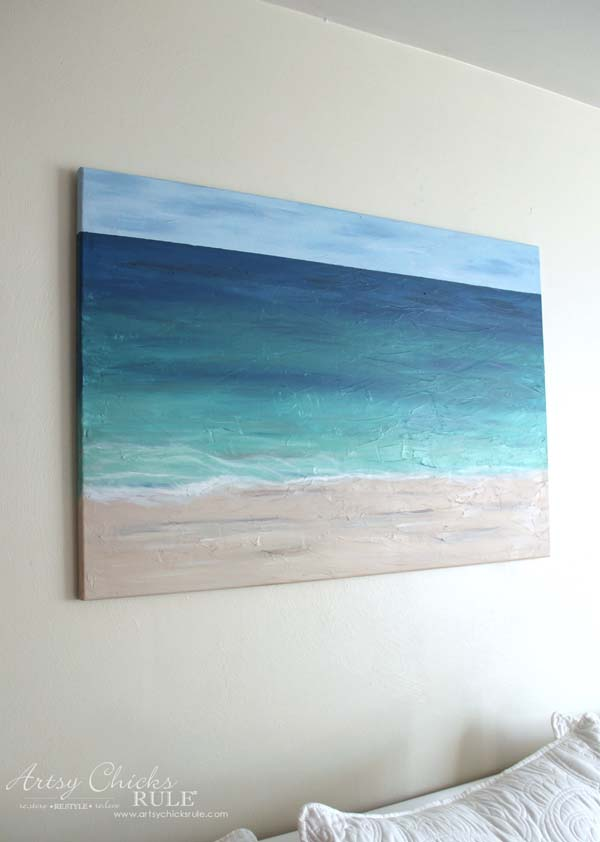 Diy Beach Painting Create Faux Texture