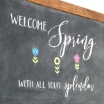 DIY Farmhouse Inspired Chalkboard – (a Tutorial, Spring Chalk Art AND a FREE Printable)