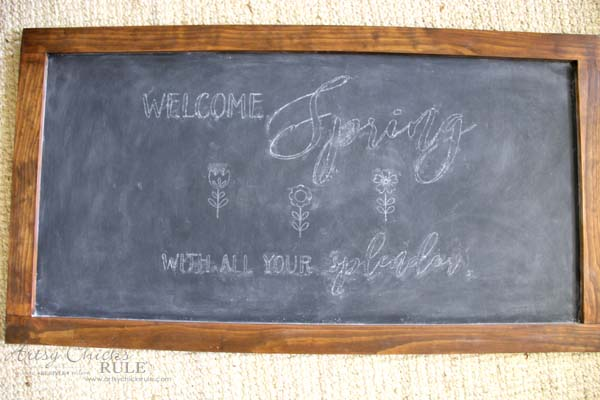 DIY Farmhouse Inspired Chalkboard - TRANSFER MADE EASY - artsychicksrule