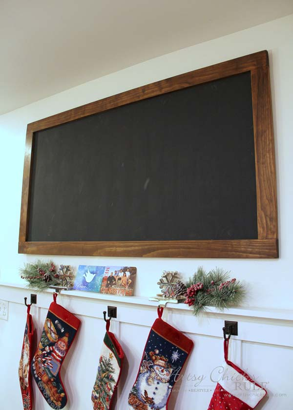 DIY Farmhouse Inspired Chalkboard - before chalk prep - artsychicksrule