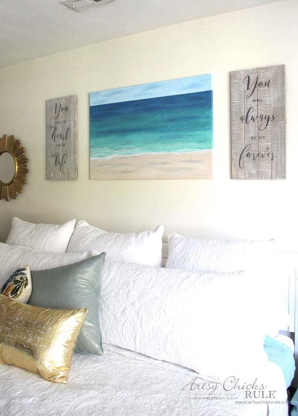 DIY Weathered Love Signs - FREE PRINTABLES - artsychicksrule.com #drybrush #chalkpaint #lovesign