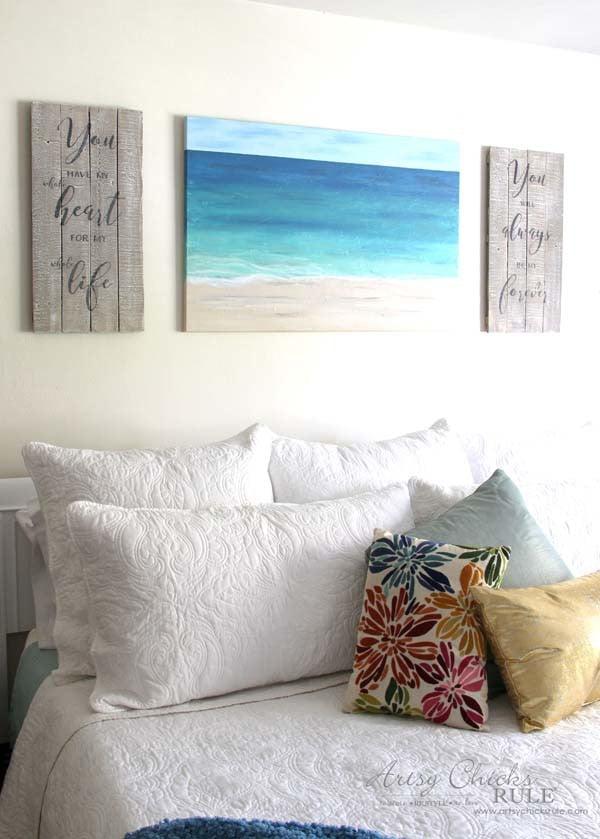 DIY Weathered Love Signs - TUTORIAL AND FREE PRINTABLES - artsychicksrule.com #drybrush #chalkpaint #lovesign