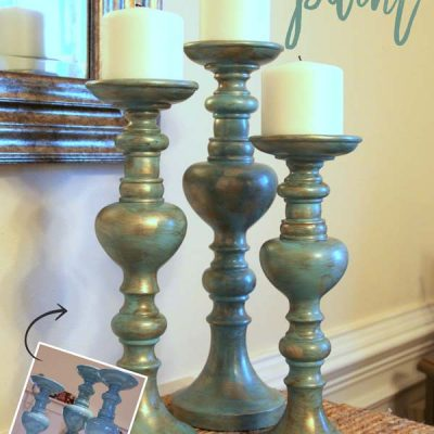 Painted Candlesticks (instant elegance with a little paint!)