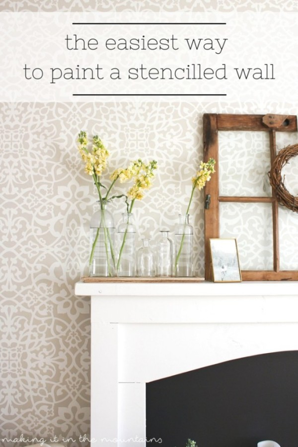 The-fastest-way-to-paint-a-stencilled-wall