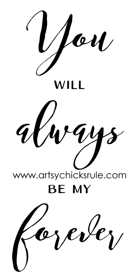 You Will Always Be My Forever Graphic (with wm) artsychicksrule.com