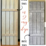 DIY Weathered Wood Shutters (Farmhouse Style)