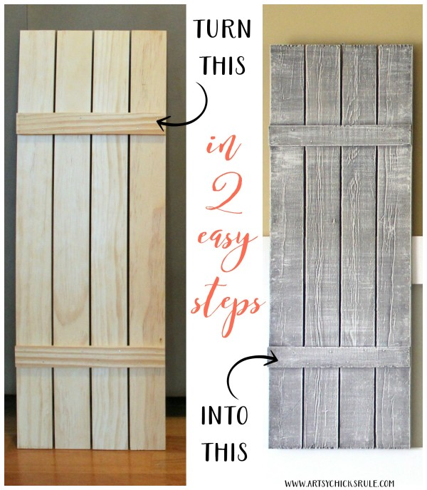 DIY Weathered Wood Shutters (Farmhouse