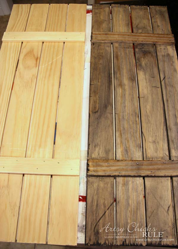 Diy Weathered Wood Shutters Farmhouse Style Artsy