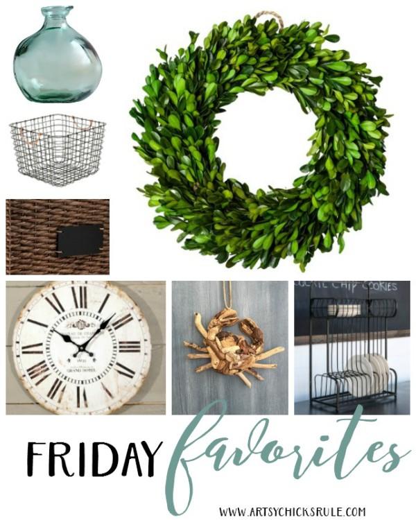 Friday Favorites 1 - artsychicksrule - #fridayfavorites #coastaldecor #farmhousedecor