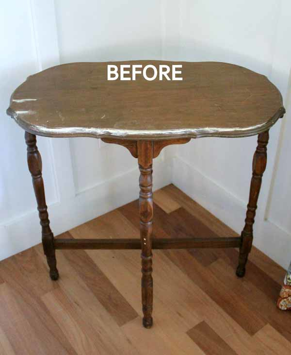 Side Table Makeover - Amy Howard Paint & Dust of Ages - BEFORE -artsychicksrule #dustofages #amyhowardpaint