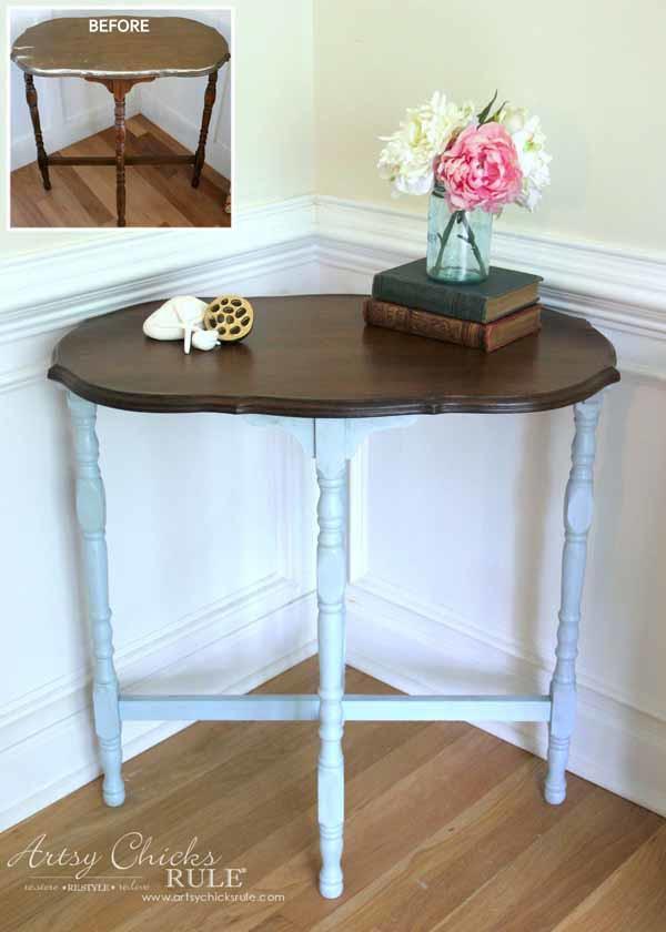 Side Table Makeover   Amy Howard Paint U0026 Dust Of Ages   EASY MAKEOVER   Artsychicksrule