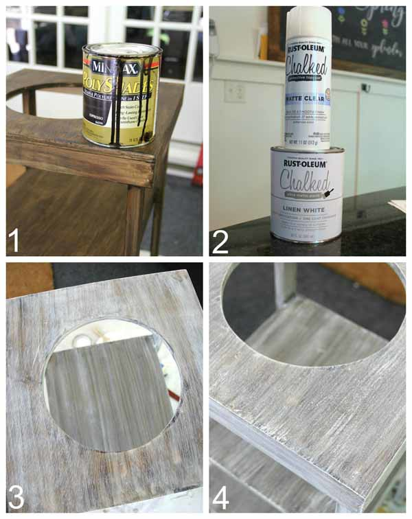 DIY Beverage Station Tutorial - Apply Paint or Finish - artsychicksrule.com #beveragestand