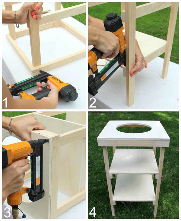 DIY Beverage Station Tutorial - Assemble Beverage Station - artsychicksrule.com #beveragestand