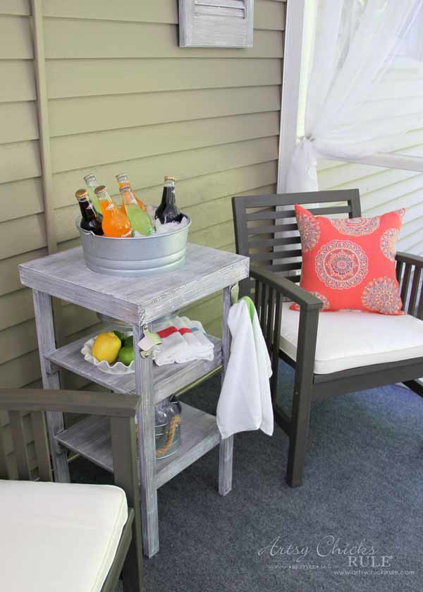 DIY Beverage Station Tutorial - Easy DIY - artsychicksrule.com #beveragestand