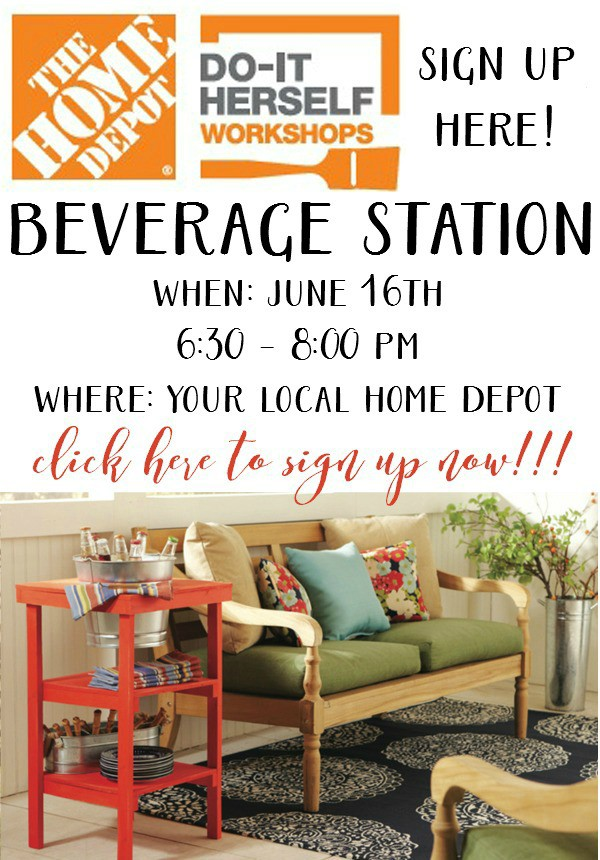 Home-Depot-DIH-Workshop-Beverage-Station - artsychicksrule.com
