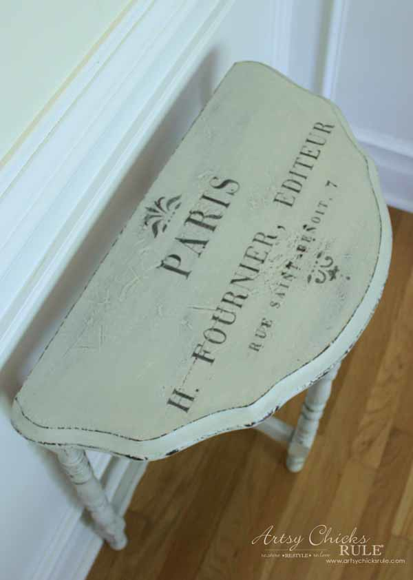Thrifty Makeover with MMS Milk Paint - AFTER waxed - artsychicksrule #milkpaint #mmsmilkpaint